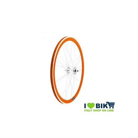 Fixed 9x4 wheel rays on bearings orange