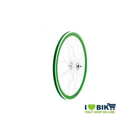 Fixed 9x4 wheel rays on bearings green