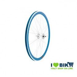 40706BSSK Ruote Fixed raggi 9x4 su cuscinetti, profilo 40mm, colore blue