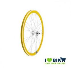 Fixed 9x4 wheel rays on bearings yellow