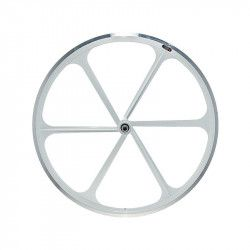 Fixed front wheel 6-spoke aluminum white