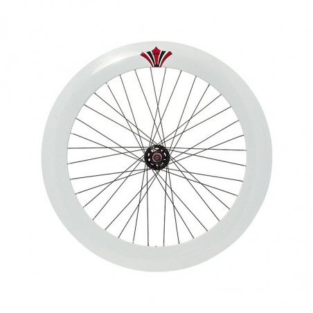 Couple Fixed white wheels (circle 70 mm, pinion included)