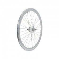 Rear wheel silver aluminum hub contropedale (circle 43 mm, pinion incl.) [CLONE] [CLONE]