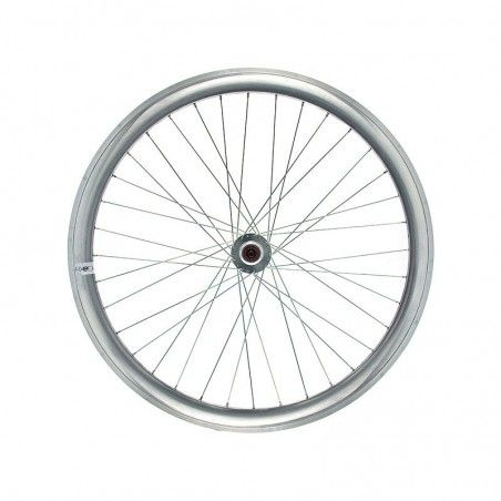 Fixed rear wheel silver (circle 43 mm)