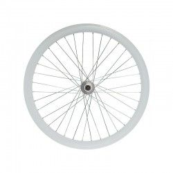 Fixed rear wheel white (circle 43 mm)