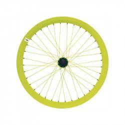 Fixed rear wheel fluo yellow (circle 43 mm)