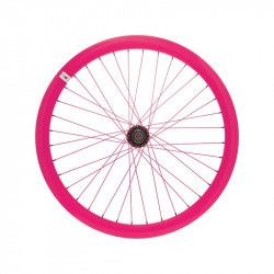 Fixed front wheel fluo fuxia pink (circle 43 mm)