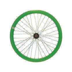 RFIXEDAV Ruota bici fixed online shop anteriore fluo verde