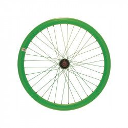 Fixed front wheel fluo green (circle 43 mm)