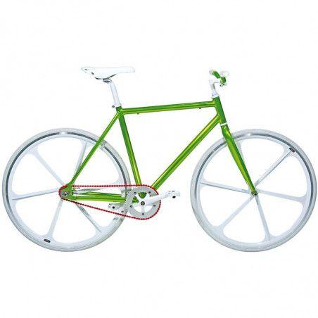 """Aluminum frame fixed cromovelato green size 53, Fork 1 """"threaded"""