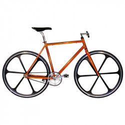 "Aluminum frame fixed cromovelato orange size 56, Fork 1 ""threaded"