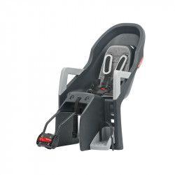 Seggiolino Polisport Guppy posteriore al telaio reclinabile nero