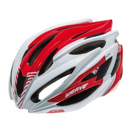 CAS12RM Casco BRN Weave bianco-rosso taglia M online shop