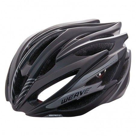 Helmet BRN WEAVE black/gray size L (58-62 cm)