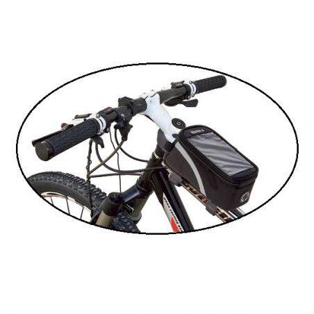 Handbag BRN Touch compartment door and smartphone black Medium