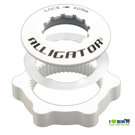 Adapter discs Centerlock White Alligator