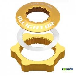 Adapter discs Centerlock gold Alligator