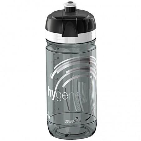 higene Elite Water Bottle 550 ml transparent black smoke