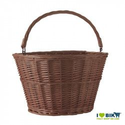 Wicker basket bike brown with a tie-clip online sale