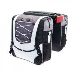 BRN Touring Bags saddlebag black-white