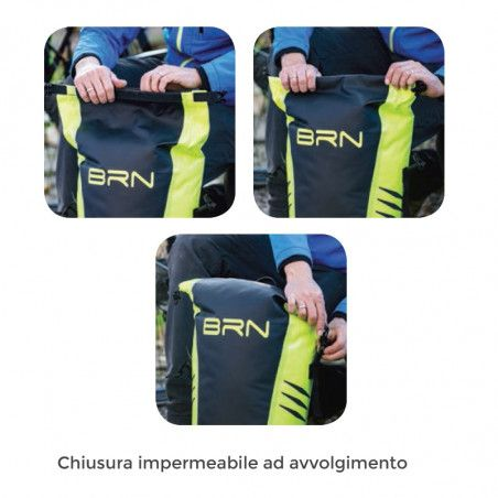 BRN touring bike bag Himalaya yellow fluo