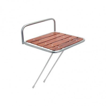 Portapacco bici Messenger acciaio con base in legno vendita online shop