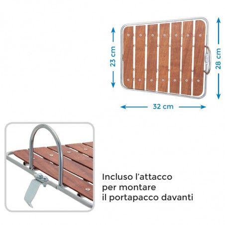 Portapacco bici Boulevard acciaio con base in legno online shop