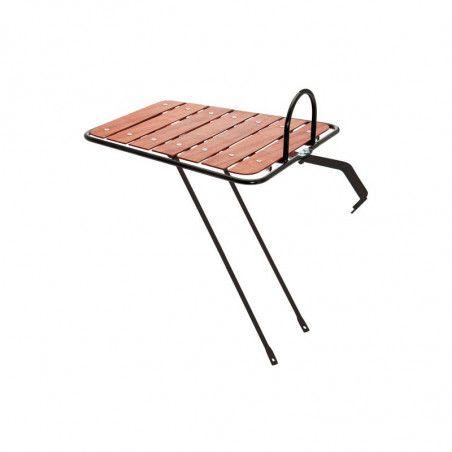 Boulevard black roof rack with wooden base online shop