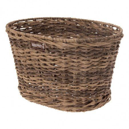 Rattan oval basket bike BRN brown online shop