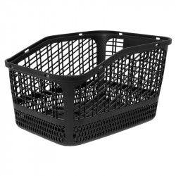 Basket bike black plastic rear Shopper bike shop