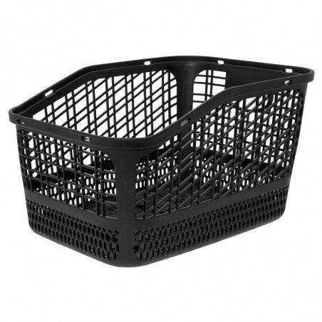 Basket bike black plastic rear Shopper bike shop