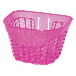 Happy pink plastic baby basket bicycle shop online