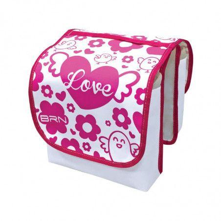 Borse bici Bimba Love Bianche/rosa a bisaccia vendita online