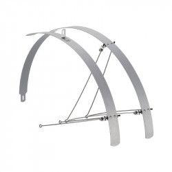 Coppia parafanghi bici Piatti in alluminio silver 32mm vendita online