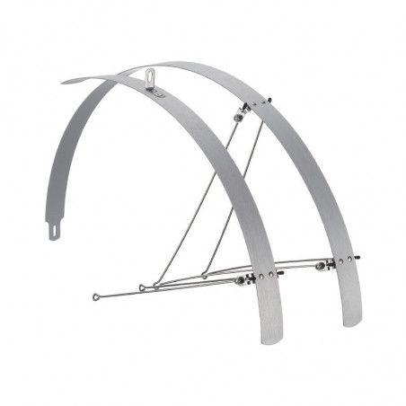 Coppia parafanghi bici Piatti in alluminio silver 42mm vendita online