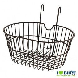 front basket with iron hooks black