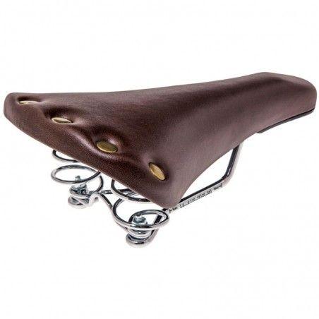 Sella bicicletta old style Sport marrone con molle online shop
