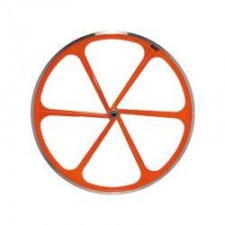 Ruota posteriore bici fixed fluo arancio vendita online