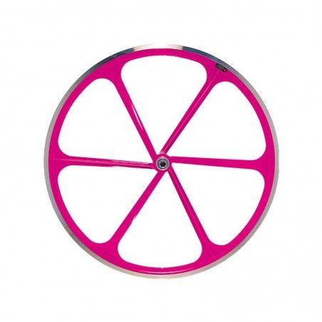 Ruota posteriore bici fixed fluo rosa vendita online