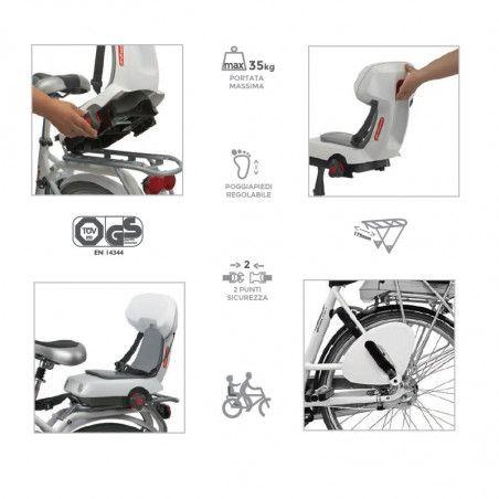 Seggiolino per bicicletta Guppy Junior bianco al portapacco vendita online