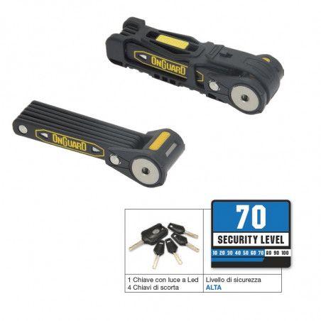 Lucchetto Onguard Heavy Duty a Chiave 750mm antifurto per bicicletta vendita online