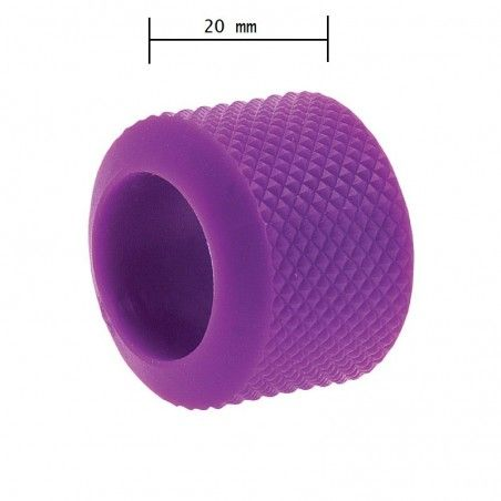 Ring knob fixed BRN-lillac rubber sale online