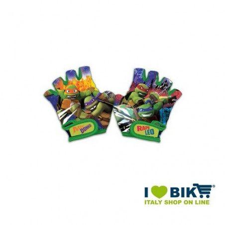 Guanti bambino Tartarughe ninja accessori bicicletta vendita online