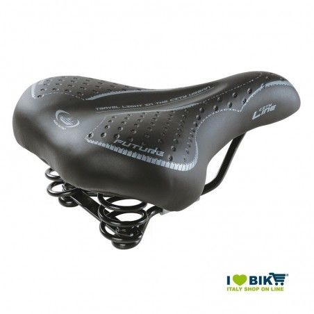Bicycle saddle Cityline black woman with bike store springs