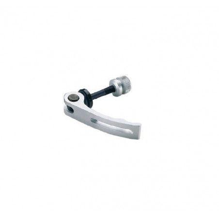 Saddle locking aluminum 6 mm silver