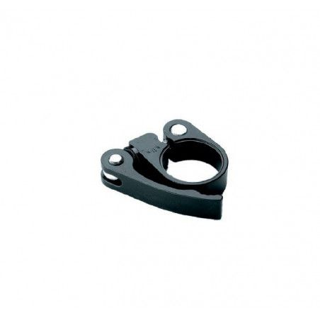 Collar saddle in black aluminum with locking various measures