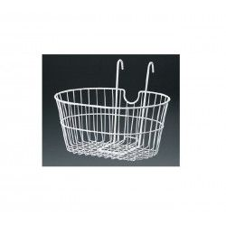 front basket with iron hooks white