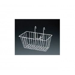 Front basket iron Graziella white