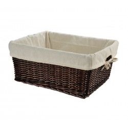 Large wicker brown basket with liner