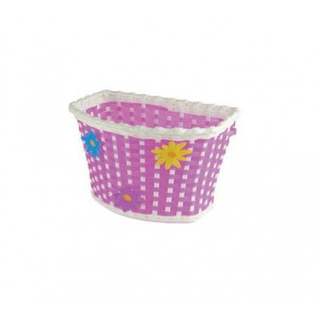 basket plastic baby Flower with pink straps